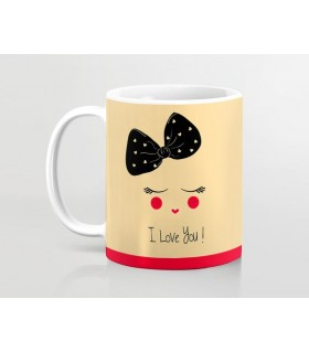 i love you printed mug