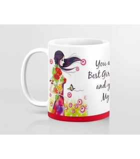 you are my best girlfriend printed mug