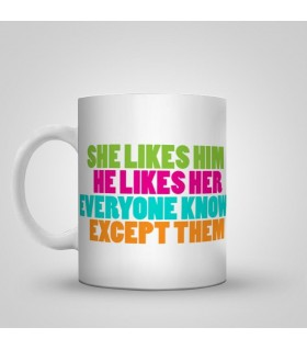 both likes each other printed mug