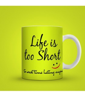 lifr is too short printed mug