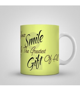 your smile is greates gift for me art printed mug