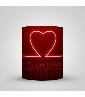 U have no idea how fast my heart  beats for you printed mug