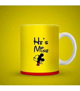 he is mine printed mug