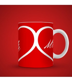 mr heart printed mug