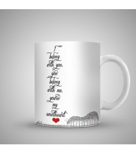 you are my sweet heart printed mug