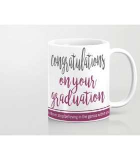 congratulations on your graduation printed mug