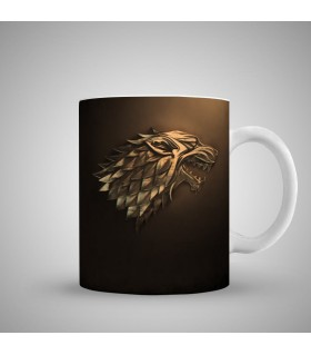 stark game of thrones art printed mug