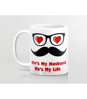 he is my husband printed mug