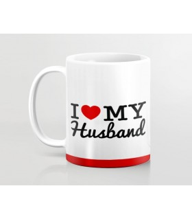my heart my husband printed mug