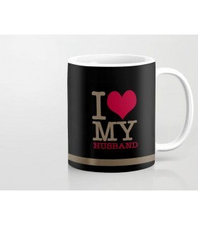 my heart for my husband printed mug