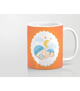 baby sleep art printed mug
