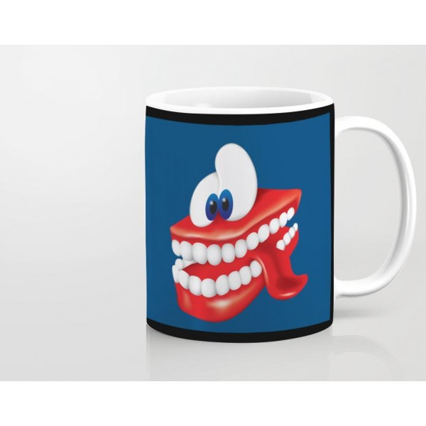 Crazy Teeth Art Printed Mug