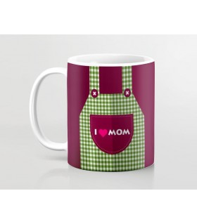 I love mom printed mug