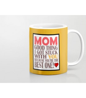 mom best one printed mug