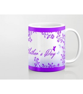 butterfly art happy mother day printed mug
