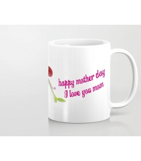 happy mother day i love u mom printed mug