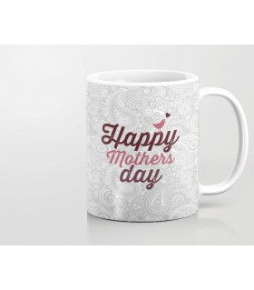 happy mothers day bird and pattern art printed mug