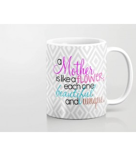 happy mothers day my mom is beautiful art printed mug