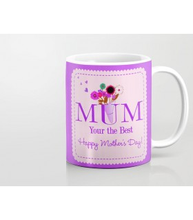 mom you are the best happy mother day printed mug