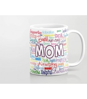 typography art Mom printed mug