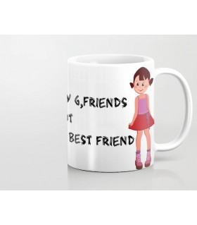 sister is my best friend printed mug