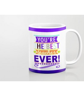 TO THE BEST TEACHER EVER PRINTED mug