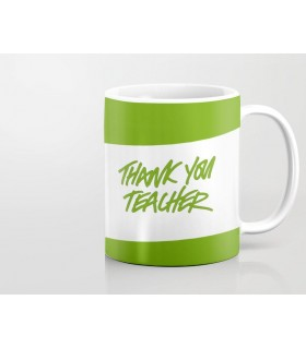 thank you teacher printed mug