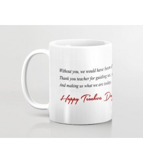 what we are today  thanks teacher printed mug