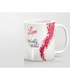 love wedding wishes printed mug