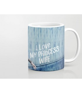 i love my princess wife printed mug