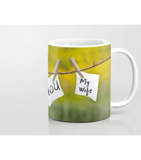 i love you my wife printed mug
