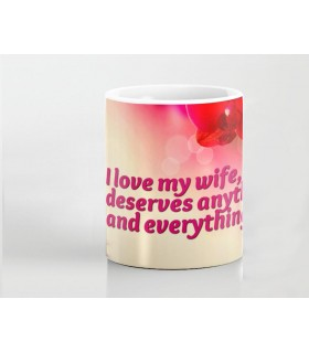 wife deserve every and any printed mug