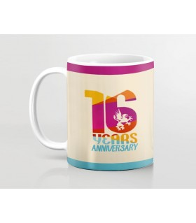 16th Happy Anniversary Printed Mug