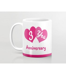 Happy Anniversary 3 Years Printed Mug