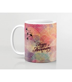 Happy Anniversary Cross Lining  art Printed Mug