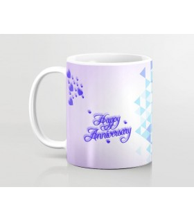 Happy Anniversary Crystal art Printed Mug