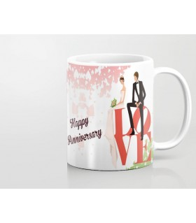 Happy Anniversary Resting Couple with love Printed Mug