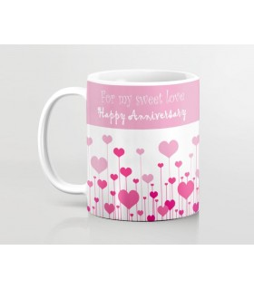 Happy Anniversary Sweet Love Printed Mug