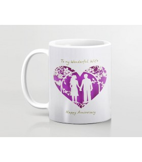 Happy Anniversary For Wife Printed Mug