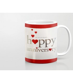 Happy Anniversary For Husband Printed Mug