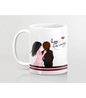 Happy Anniversary Couple Printed Mug