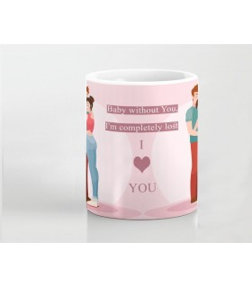 baby without you i m lost printed mug