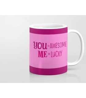 you awesome me lucky printed mug