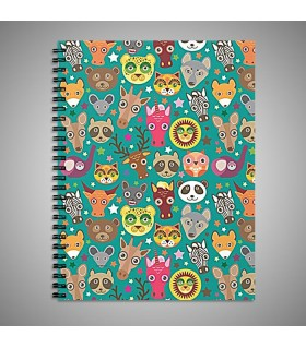 animals muzzle ART PRINTED NOTEBOOK