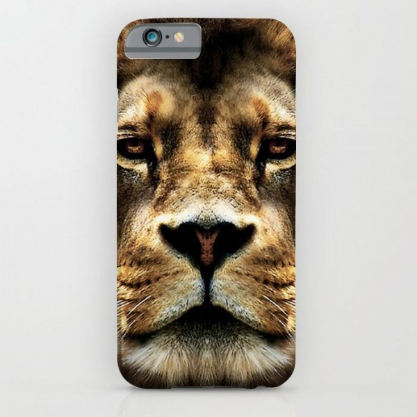 3d lion face art printed mobile cover