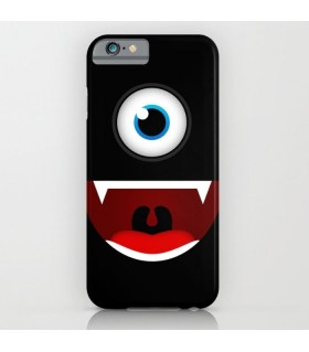 black funny monster art printed mobile cover