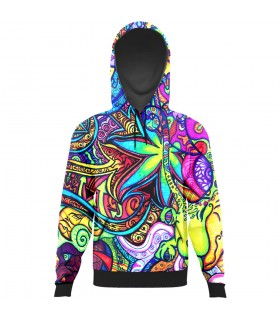 colorful floral art All Over Printed Hoodie