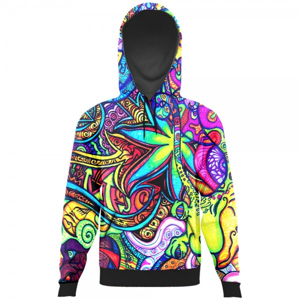 e760cd5fe0e2 colorful floral art All Over Printed Hoodie Rs.2-899 Price Online ...