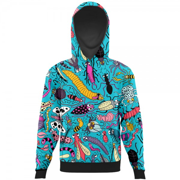 Insects All Over Printed Hoodie