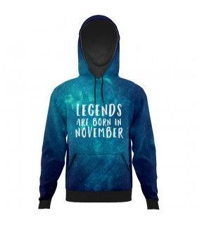 legends november all over printed hoodie